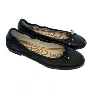 SAM EDELMAN Black Leather Felicia Ballet Flats 6.5